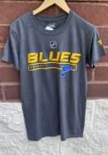 St Louis Blues Pro Prime T Shirt - Charcoal