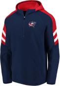 Columbus Blue Jackets Stripe Shoulder Hood - Navy Blue