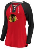 Chicago Blackhawks Womens Break Out T-Shirt - Red