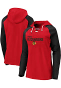 Chicago Blackhawks Womens Lace Up Hooded Sweatshirt - Red