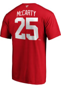 Detroit Red Wings Retired Authentic Stack Player T Shirt - Red