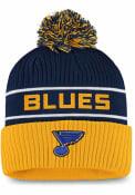 St Louis Blues Authentic Pro Cuff Knit - Navy Blue