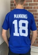 Peyton Manning Indianapolis Colts Hall Of Fame NN T-Shirt - Blue