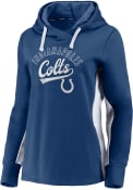 Indianapolis Colts Womens Cross Over Hooded Sweatshirt - Blue