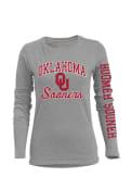 Oklahoma Sooners Womens BFF Grey T-Shirt
