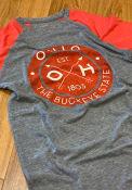 Ohio Dark Charcoal Circle Graphic Short Sleeve T Shirt