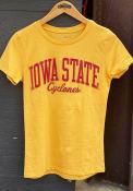 Iowa State Cyclones Womens Gold Bestie T-Shirt