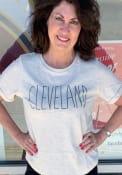 Cleveland Womens Oatmeal Saltee Short Sleeve T Shirt