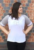 Chicago Womens White Circle Arrow Short Sleeve T Shirt