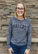 Dallas Womens Navy Star Print Long Sleeve Crew Sweatshirt