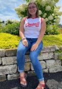 Cincinnati Womens Wordmark Tank Top - White