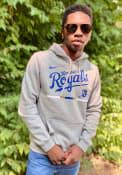 Kansas City Royals Nike Color Bar Hooded Sweatshirt - Grey