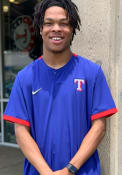 Texas Rangers Nike Hot Jacket Short Sleeve Jacket - Blue