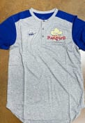 Texas Rangers Nike Coop Henley Fashion T Shirt - Grey