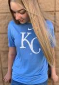 Kansas City Royals Nike Logo Legend T Shirt - Light Blue