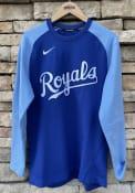 Kansas City Royals Nike Crew Top Pregame Sweatshirt - Blue