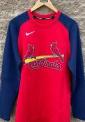 St Louis Cardinals Nike Crew Top Pregame Sweatshirt - Red