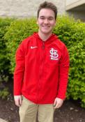 St Louis Cardinals Nike Therma FZ HD Pregame Zip - Red