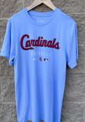 St Louis Cardinals Nike Early Work Fashion T Shirt - Light Blue