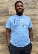 Kansas City Royals Nike AC Logo Stack T Shirt - Light Blue