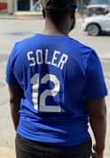 Jorge Soler Kansas City Royals Nike Name Number T-Shirt - Blue