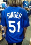 Brady Singer Kansas City Royals Nike Name And Number T-Shirt - Blue