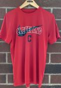 Cleveland Indians Nike City Swoosh Legend T Shirt - Red