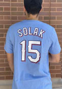 Nick Solak Texas Rangers Nike Name And Number T-Shirt - Light Blue