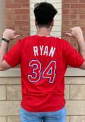 Nolan Ryan Texas Rangers Nike Coop Name And Number T-Shirt - Red
