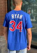 Nolan Ryan Texas Rangers Nike Coop Name And Number T-Shirt - Blue
