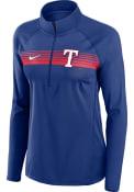 Texas Rangers Womens Nike Element 1/4 Zip - Blue