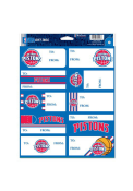 Detroit Pistons Gift Tag (10) Stickers