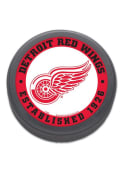 Detroit Red Wings Team Logo Hockey Puck