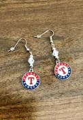 Texas Rangers Crystal Dangle Womens Earrings