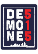 Des Moines 515.0 Stickers