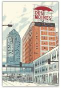Des Moines Umbrella Postcard
