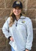 Wichita State Shockers Womens Sherpa 1/4 Zip Pullover - Grey