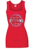 Detroit Pistons Womens Rib Tank Tank Top - Red