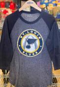 St Louis Blues Womens Raglan Navy Blue T-Shirt