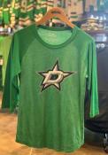 Dallas Stars Womens Triblen Raglan Green T-Shirt