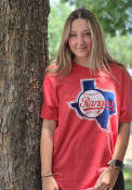 Texas Rangers Red Retro State Outline Fashion Tee