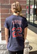 Jason Kipnis Cleveland Indians Majestic Threads Triblend Name and Number T-Shirt - Navy Blue