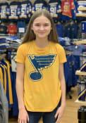 St Louis Blues Womens Triblend Crew Neck T-Shirt - Gold