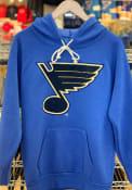 St Louis Blues Womens Triblend Hooded Sweatshirt - Blue