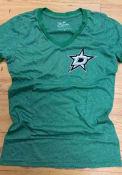 Dallas Stars Womens Ringer T-Shirt - Kelly Green