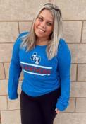 Texas Rangers Womens Boyfriend T-Shirt - Blue