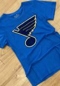 St Louis Blues Womens Triblend Crew Neck T-Shirt - Blue