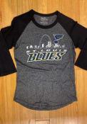 St Louis Blues Womens Triblend 3/4 Raglan Crew Neck T-Shirt - Navy Blue