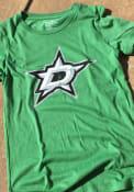 Dallas Stars Womens Triblend Crew Neck T-Shirt - Green