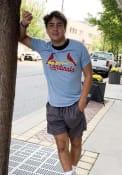 St Louis Cardinals Wordmark Fashion T Shirt - Light Blue